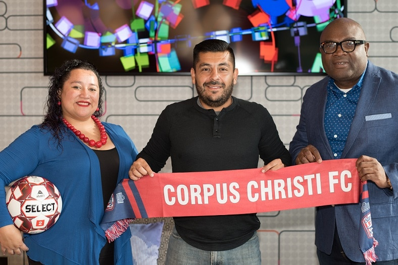 Corpus Christi FC (The Sharks) re-appoints Sebastian Giraldo, PhD as head coach for its 2020 season