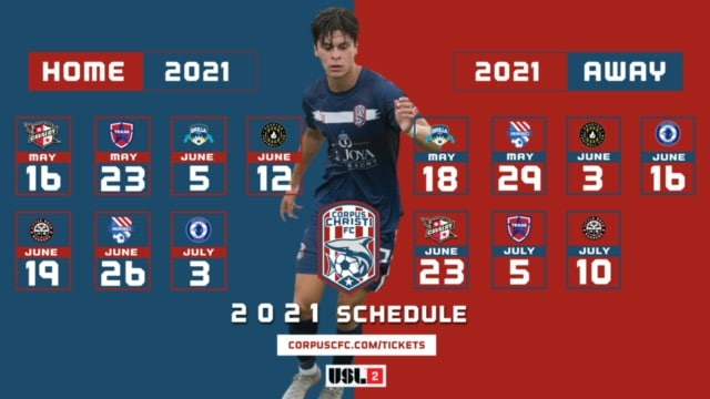 Corpus Christi Football Club Announces Its 2021 Schedule And Ticket Sale